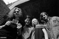 Smashing Pumpkins group portrait including Billy Corgan Jimmy Chamberlin  James Iha and Darcy Wretzsky Notting Hill