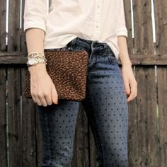 Make speedy work of dotting some favorite pants by making a reusable  and easy to create template.