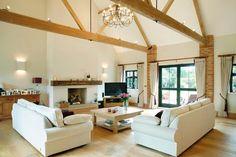 Beams, Fireplace, Living room
