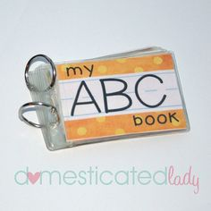 Printable ABC Book, Learn Your Letters, Alphabet, digital pdf file