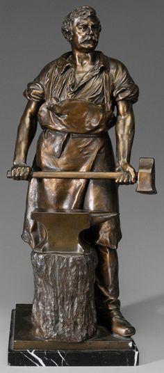 working blacksmith sculpture - Hľadať Googlom