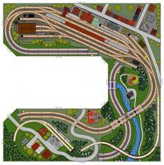 C-Gleisanlage Trossingen (U-Form) Ho Model Trains, Ho Trains, Model Railway Track Plans, Standard Gauge, Model Train Layouts, Train Set, Train Tracks, Layout Inspiration, Classic Toys