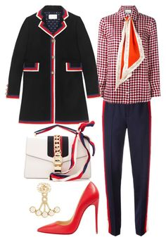"""""""Untitled #1606"""" by onlyonedayatatime on Polyvore featuring Gucci and Christian Louboutin"""