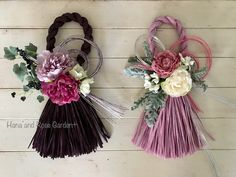 *100均の造花(ダイソー)と水引(セリア)でお正月飾りを作りました : のばらのガーデニングブログ Hana and Rose Garden+