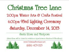 Altadena's Christmas Tree Lane is the oldest Christmas Tree Display in the United States!  Tree Lighting Ceremony and Art Fair is this Saturday, Dec 14, 2013. Good old Family Fun!