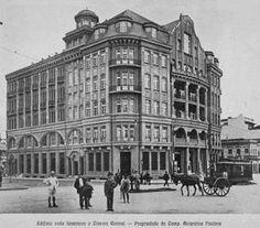 Década de 10 - Construído pela Cia. Antartica Paulista e usado como o Cine Central. Pelos anos 1920 o predio foi ocupado pela Recebedoria de Rendas, chamado no época de Colectoria de Receitas Federais.