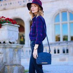 Street Style Purple Blouse