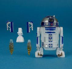 R2D2 Action Figure Star Wars R2-D2 Droid Jedi Robot The Force Accessory Toy Set