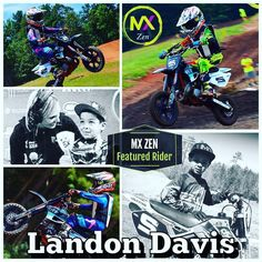 Meet our #mxzen #featured #rider Landon Davis #2. Our #littleripper rides a 2016 50 FWE Cobra.  My best race ever was at Budds Creek. I pulled the holeshot and checked out. Everything that could have went right - did. I love that track!! It's so much fun! I got into motocross because When I was 3 my mom was flipping through the TV channel and i saw Ryan Villapoto - Supercross. I wouldn't let my mom change the channel. I was hooked from there. I have cousins and uncles that ride dirtbikes…