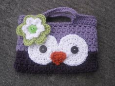 Handmade Crochet Owl Purse - Perfect size for your little one to place their items that they just can't leave home without!     http://www.etsy.com/shop/BumbleBeedsBowtique