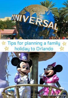 Tips for planning the ultimate family holiday to Orlando including best time to visit, best age to visit Disney, reviews of on site (Disney & Universal) hotels and off site hotels and villas, best places to look for special offers, etc
