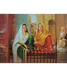 Beautiful Courtesans - Reprint on Paper - x inches - Unframed Rajasthani Painting, Indian Paintings, Punjab Culture, Most Famous Paintings, Decoupage Paper, Amazing Pics, Indian Art, Beautiful Paintings, Creative Art