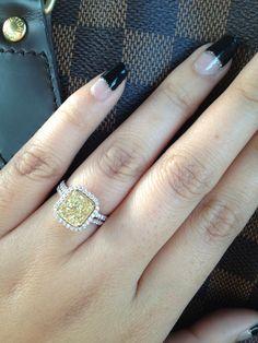 My beautiful yellow diamond engagement ring