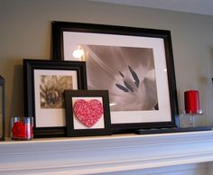 valentine mantle decor