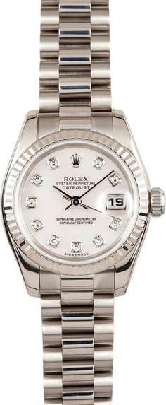 Ladies Rolex Presidential 179179 18k White Gold