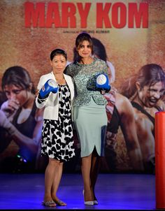 Mary Kom and Priyanka Chopra came together to promote the film. #Bollywood #Fashion #Style #Beauty