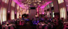uplighting at wedding reception at the Knight Center