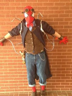 """Steampunk Spiderman (Comic Book Superheroes and Villains), from """"Steampunk Your Halloween Costume"""" by SteampunkFashionGuide"""