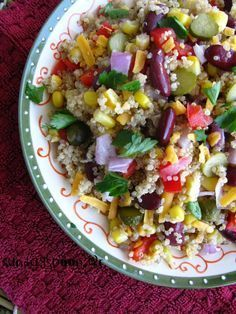 This vivid vegetarian accompaniment can be thrown together quickly- the fresh corn works perfectly with the jalapeño, coriander, lime and feta Bbc Good Food Recipes, Healthy Recipes, Healthy Food, Midweek Meals, Steak Salad, Bowl Of Soup, Salsa Recipe, Healthy Side Dishes, Summer Salads
