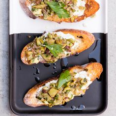 Goat Cheese, Artichoke, and Olive Bruschetta |  MyRecipes.com As delicious as they are, artichokes have a compound that makes wine taste sweet. Tangy goat cheese brings both into balance.
