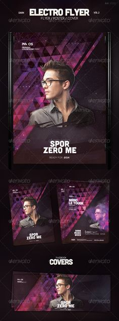 Electro Flyer — Photoshop PSD #drum & bass #club flyer • Available here → https://graphicriver.net/item/electro-flyer-vol-2/7200328?ref=pxcr