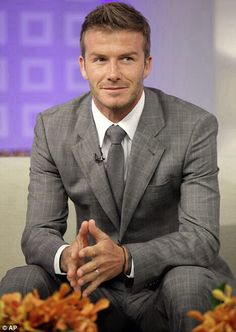 Quintessentially British...!! David Beckham such an elegant gentleman always.