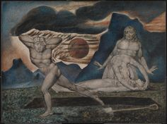 The Body of Abel Found by Adam and Eve, William Blake, Tate William Blake Paintings, Caim E Abel, Adam Et Eve, Cain And Abel, Tate Gallery, Tate Britain, Danse Macabre, Illustration, Art Uk