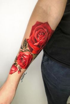 b64c89bf7bbbd 50+ Best Pastel Color Flower Tattoos For Girls - Shake that bacon Realistic Flower  Tattoo