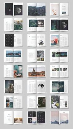 editorial layout LUMINA Magazine Template from Collective - Booklet Layout, Brochure Layout, Layout Template, Design Brochure, Brochure Template, Flyer Layout, Corporate Brochure, Graphic Design Layouts, Book Design Layout