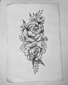 peonias tattoo tatuagem floral