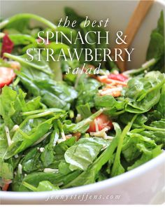 the best spinach & strawberry salad