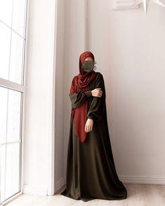 Niqab Fashion, Modest Fashion Hijab, Street Hijab Fashion, Fashion Outfits, Hijab Style Dress, Casual Hijab Outfit, Hijab Chic, Girl Hijab, Hijab Bride