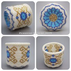 Beaded basket by pembrokedesigns on Etsy
