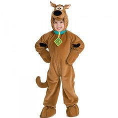 Scooby Doo Super Deluxe Child Costume - - Scooby Doo Super Deluxe velour front zipper jumpsuit with attached character headpiece collar and tail. This is an officially licensed Scooby-Doo and © Hanna-Barbera costume. Scooby Doo Disfraz, Scooby Doo Halloween Costumes, Halloween Kids, Trendy Halloween, Halloween 2015, Halloween Masks, Halloween Makeup, Halloween Party, Toddler Costumes