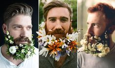 Wacky new trend sees hipsters weave foliage into their facial hair