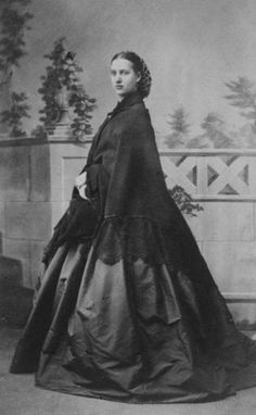 Princess Alexandra by G. E. Hansen of Copenhagen carte de visite | Alexandra may be wearing the same dress as in the last image. A shawl converted the roundness of a crinoline into a cone.
