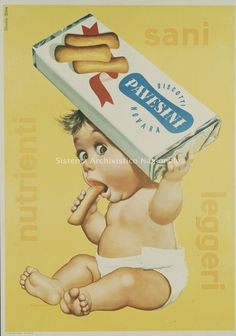 Poster ads by Gian Rossetti - Italian Ways Pin Up Vintage, Pub Vintage, Vintage Labels, Vintage Cards, Vintage Images, Vintage Food, Vintage Italian Posters, Vintage Advertising Posters, Old Advertisements