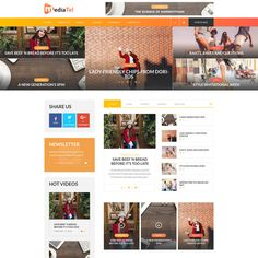 Midiatel - awesome media magazine WordPress theme for video content. The theme has light weight and robust engine optimized for high load and designed Css Website Templates, Joomla Templates, Wordpress Template, Wordpress Video Theme, Tema Wordpress, Simple Website, Video News, Youtube, Media Magazine