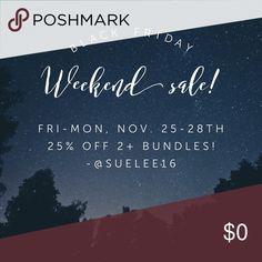 🎉🏴Black Friday Weekend Sale!🏴🎉 🎉25% off 2+ Bundles All Weekend, Fri-Mon, Nov. 24-28th!! Grab some amazing deals!! 🎉 love on a hanger Tops