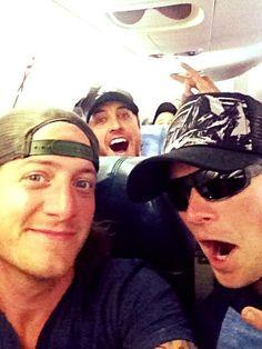 Florida Georgia Line and Luke Bryan on a flight...drinks on Luke