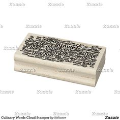 Shop Culinary Words Cloud Stamper Rubber Stamp created by kithseer. Wood Stamp, Letter Writing, Foam Cushions, Wooden Handles, Wood Art, Laser Engraving, Craft Projects, Clouds, Lettering