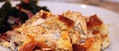 Turkey Corn Crisp: Leftover Thanksgiving Corn Cobbler.