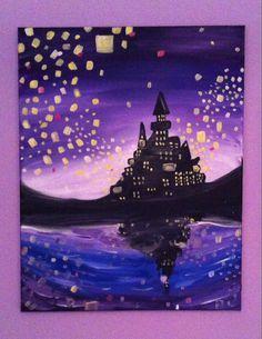 healthy breakfast ideas for kids age 9 to make 3 12 11 Painting & Drawing, Watercolor Paintings, Kid Painting, Rapunzel, Disney Paintings, Disney Artwork, Castle Painting, Disney Canvas, Canvas Art