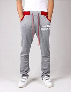 Pants Men'S Fashion Sports Pants Casual Warm Pants Men Jogger Pants - Light Gray