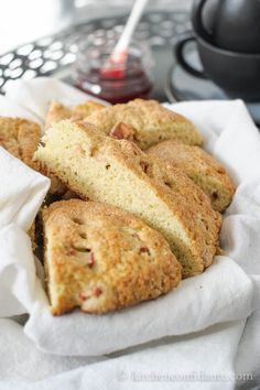 Rhubarb Scones @Liren Baker | Kitchen Confidante