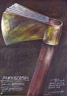 Axiliad Siekierezada Pagowski Andrzej Polish Poster