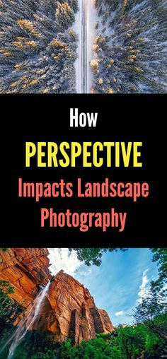 How Perspective Impacts Landscape Photography. How to take unique nature and tra. Landscape Photography Tips, Photography Lessons, Photography Tutorials, Digital Photography, Travel Photography, Photography Ideas, Perspective Photography, Learn Photography, Outdoor Photography