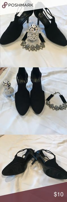 "👠Stilettos👠 Black Heels 3 1/2"" closed toe. Wear with jeans or with a dress going to Church Sunday😀 Shoes Heels"