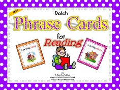 Dolch Phrase Cards For Building Reading Fluency-Set 1