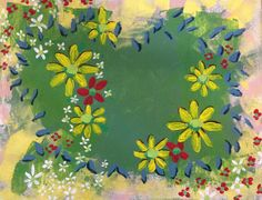 Fantasy Floral 22   Acrylic on Canvas Board   by Karen Woodbury   Copyright 2014 All Rights Reserved